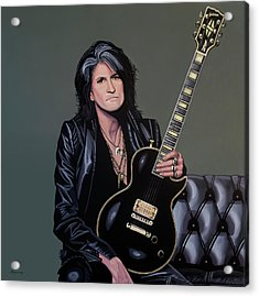 Joe Perry Of Aerosmith Painting Acrylic Print
