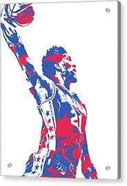Joel Embiid Philadelphia Sixers Pixel Art 13 Acrylic Print