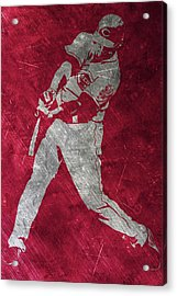 Joey Votto Cincinnati Reds Art Acrylic Print by Joe Hamilton