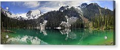 Joffre Lake Middle Panorama B.c Canada Acrylic Print by Pierre Leclerc Photography