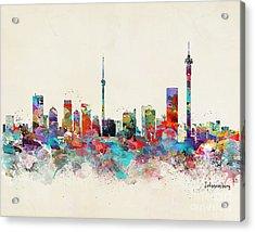 Johannesburg South Africa Skyline Acrylic Print by Bri B