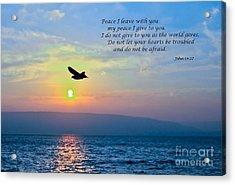 John 14  27 Acrylic Print