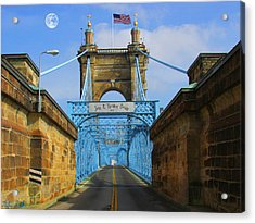 John A. Roebling Suspension Bridge Acrylic Print