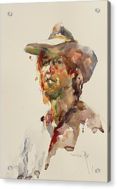 John Acrylic Print by Becky Kim