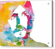 John Bonham Watercolor Acrylic Print