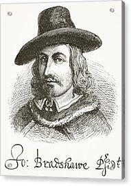 John Bradshaw 1602 To 1659. Judge At Acrylic Print by Vintage Design Pics