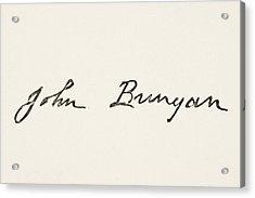 John Bunyan 1628 To 1688. English Acrylic Print by Vintage Design Pics