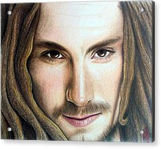 Acrylic Print featuring the drawing John Butler by Danielle R T Haney