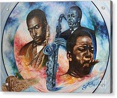Blaa Kattproduksjoner     John Coltrane - Jazzed  Acrylic Print