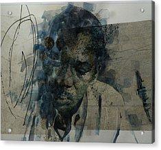 Acrylic Print featuring the mixed media John Coltrane / Retro by Paul Lovering