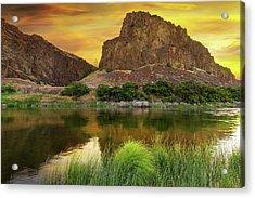 John Day River At Sunrise Acrylic Print by David Gn