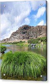 John Day River Landscape In Summer Portrait Acrylic Print