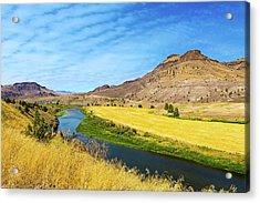 John Day River Panoramic View Acrylic Print