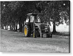 John Deere 620 In Selective Color Acrylic Print