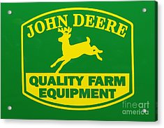 John Deere Farm Equipment Sign Acrylic Print by Randy Steele