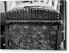 John Deere In Monochrome Acrylic Print