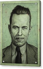 John Dillinger Acrylic Print by James W Johnson
