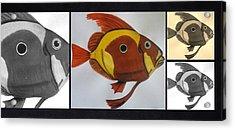 John Dory Collage Acrylic Print