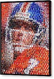 John Elway Mosaic Acrylic Print