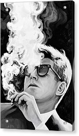 Acrylic Print featuring the painting John F. Kennedy Artwork 1 by Sheraz A