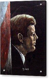 John F. Kennedy Acrylic Print by Norman F Jackson