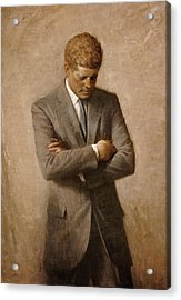 John F Kennedy Acrylic Print by War Is Hell Store