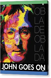 John Goes On Acrylic Print by Stephen Anderson