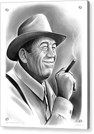 John Huston Acrylic Print by Greg Joens