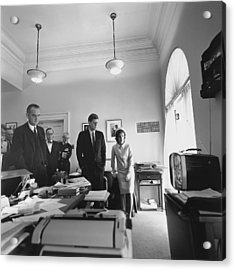 John Kennedy And Others Watching Acrylic Print