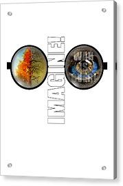 John Lennon - Imagine Acrylic Print by Lee Brown
