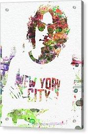 John Lennon 2 Acrylic Print by Naxart Studio