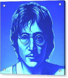 John Lennon Acrylic Print by Agris Rautins