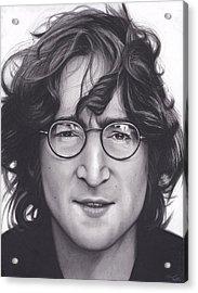 John Lennon Acrylic Print by Brittni DeWeese