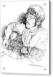 John Lennon Acrylic Print by David Lloyd Glover