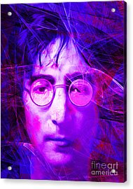 John Lennon Imagine 20160521 V2 Acrylic Print by Wingsdomain Art and Photography