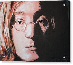 John Lennon  Imagine Acrylic Print by Sharon Morley  APS