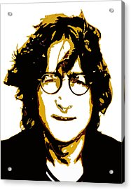John Lennon In Shades Of Brown Acrylic Print by Jera Sky
