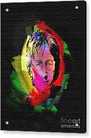 John Lennon Acrylic Print by Mo T
