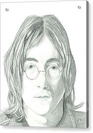John Lennon Portrait Acrylic Print by Seventh Son