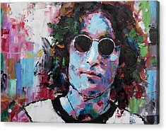 Acrylic Print featuring the painting John Lennon by Richard Day