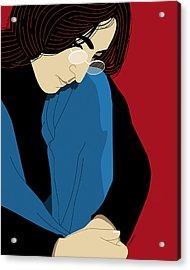 John Lennon Acrylic Print by Ron Magnes