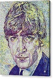 John Lennon Acrylic Print by Suzanne Gee