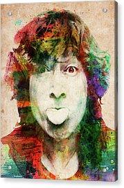 John Lennon Tongue Out Acrylic Print