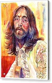 John Lennon Watercolor Acrylic Print