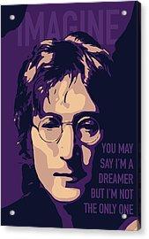 John Lennon Acrylic Print by Yeliz Atik