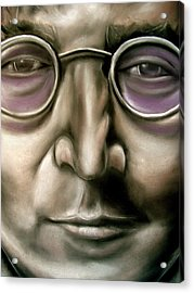 John Lennon Acrylic Print by Zach Zwagil