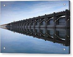 John Martin Dam And Reservoir Acrylic Print by Ernie Echols