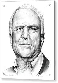 John Mccain Acrylic Print by Greg Joens