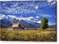 John Moulton Barn In The Tetons Acrylic Print