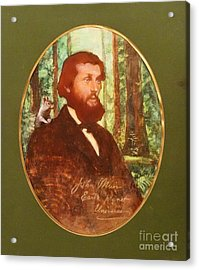 John Muir With Chip On His Shoulder Acrylic Print by Kean Butterfield
